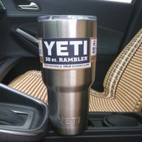 mugs - Yeti oz Cups YETI Rambler Tumbler Travel Vehicle Beer Mug Double Wall Bilayer Vacuum Insulated Stainless Steel ml