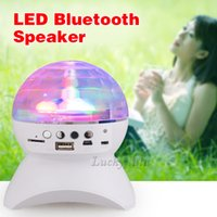 audio clubs - Rotating Magic Ball speaker Light with Wireless Bluetooth Stage Effect Rotating Bulb With USB Interface for KTV Xmas Party Club Pub Disco D