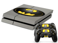Cheap New Batman PS4 Skin Sticker For Sony Playstation 4 PS4 Console protection film and 2Pcs Controller Protective Skins