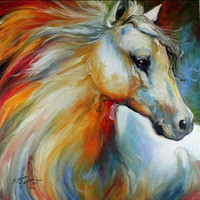 angels abstract - Horse Angel Pure Hand Painted MODERN Abstract Animal Art Oil Painting On High quality Canvas any customized size accepted ants