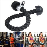 abdominal training - 50 Gym Bodybuilding Tricep Rope Fitness Equipment cm Heavy Duty Coated Nylon Rope Back Shoulders Abdominal Training