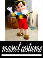 adult pinocchio costume - Professional Pinocchio Mascot Costume Adult Size Fairy Tale Characters Mascotte Outfit Suit Party Fancy Dress EMS