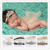 baby gi - 2016 Baby Infant Luxury Shine diamond Crown Headbands girl Wedding Hair bands Children Hair Accessories Christmas boutique party supplies gi