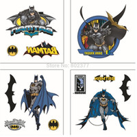 adhesive tattoos - Whosale psc MIXED Children custom design Batman adhesive Cartoon arm waterproof Tattoos Stickers for kids