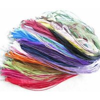 Wholesale 17 Inch Adjustable Assorted Colors Organza Ribbon Necklace Cord with Lobster Clasp For DIY Jewelry Making Random Color