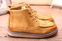Wholesale 2016 Top Quality Hot Fashion Men Shoes Spring Autumn Ankle Boots Men Comfortable Brogue Shoes Ankle Boots Men Martin Boots Size Euro