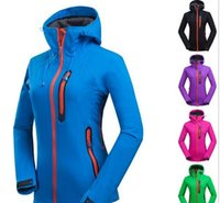 Wholesale 2016 new fashion Ms outdoor sports brand waterproof windproof breathable soft shell fleece clothing mountaineering camping essential