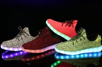 big red charges - Big kids LED Shoes light colorful Flashing Shoes with USB Charge Unisex Fluorescent Couple Shoes For Party and Sport Casual Shoes
