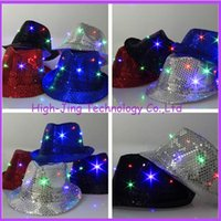Wholesale novelty fashion Led fiber optic lamp luminous hat for party hip hop led flashing hats for party