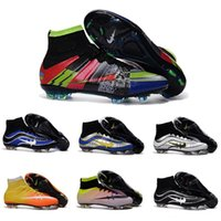 Wholesale 2016 High Ankle cheap original soccer cleats superfly v FG Soccer Shoes CR7 cristiano ronaldo shoes Football shoes Magista Superfly Cleats