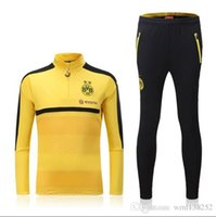 Wholesale 2016 Dortmund Training Suits Chandal Dortmund Maillot De Foot Survetement Football Tracksuit Sportswear long sleeve pants shirt
