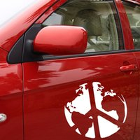 auto accessory world - World Peace Symbol Decals Vinyl Stickers Removable Car Styling Modern Style Auto Accessories