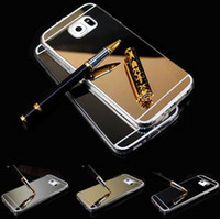 aluminum silicon cover - Mirror Metal Aluminum Clear Silicon TPU Phone Case For Samsung Galaxy S6 S6 Edge S7 S7 Edge Phone Case Luxury Cover