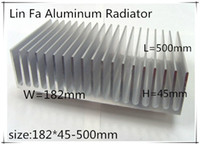 Wholesale 1pcs LED heat sink Aluminum LED mm Power module heat sink Chassis radiator Aluminum color