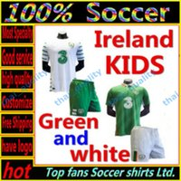 Wholesale Whosales Kids Soccer Jerseys Euro Cup Youth Jerseys Republic of Ireland Football Shirt KEANE Soccer Uniforms Kit Sets Top Quality