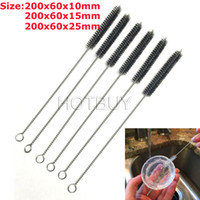 Wholesale 8 inch Nylon Straw Cleaners Cleaning Brush for Drinking Pipe Stainless Steel Glass mm mm mm