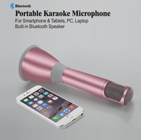 best conference phones - Best Quality K068i KTV Karaoke Wireless Bluetooth Microphone With Speaker Mini Support Record For Smart Phone Tablet PC Handheld Microphone