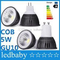 Wholesale E27 GU10 MR16 LED COB Spotlight Dimmable w w Spot Light Bulb high power lamp AC DC V or V CE ROHS UL