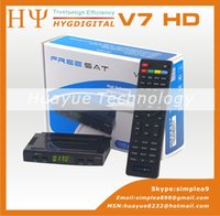 Wholesale Original DVB S2 Freesat V7 Satellite TV Receiver Support PowerVu Biss Key Cccamd Newcamd Youtube Youporn USB Wifi Set Top Box