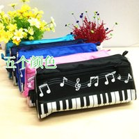 Wholesale DHL SF _Express piano pencil note pencil case multi color waterproof cloth pencil bag factory price