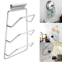 Wholesale 1PCS New Arrival Kitchen Space Saver Cabinet Door Pot and Pan Lid Holder Rack Organizer Storage Kitchen Cooking Tools
