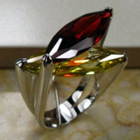 Cheap Huge Garnet Citrine 925 Sterling Silver Ring Size 6 7 8 9 10 R95 ring train