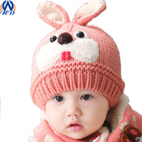 adult baby bonnet - Baby Knitted Beanie Bonnet Warm Hats Infant Toddler Rabbit Ear Kids Caps photography props Drop Shipping MZ0038