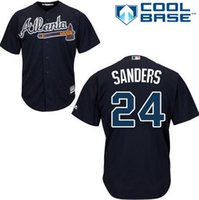 Wholesale 24 Deion Sanders Braves Jersey shirts size S small xl