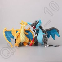 Wholesale Poke Mon Plush Doll Stuffed Toy Mega Evolution X Y Charizard Soft Stuffed Plush Doll cm Cartoon Stuffed Animals CCA4632