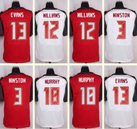 Wholesale 2016 New Men s Mike Evans Williams Jameis Winston Louis Murphy Elite White Red Top Quality jerseys Drop Shipping