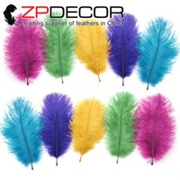 Wholesale ZPDECOR Factory cm inch Best Quality Ostrich Feathers Dyed Popular Mix Colored for Cheap