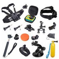 aluminum camera straps - Gopro Accessories Chest Head Strap Monopod Floating Bobber Mount for Go pro Hero Xiaomi Yi SJCAM Sj4000 black edition