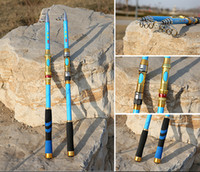 Wholesale New fall Foldable Blue Sea rod meters cast fishing rods Carbon Fishing Tackle Fishing pole Aluminum alloy rod