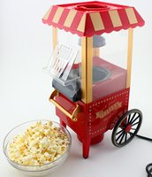 Wholesale Spot authentic vintage novelty gift horse carts classical models mini popcorn machine home popcorn machine
