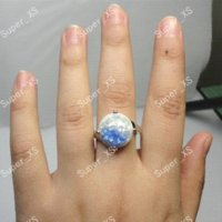 Wholesale jewelry Abalone Fashion Alloy Shell silver plated rings New gold plated fashion rings