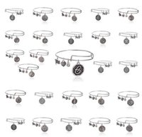 american jews - cheap expandable antique silver Jew and LY metal alloy initial alphabet charms Alex and A you bracelets trendy metallic bangles HJIA419