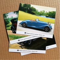 antique wedding invitations - 4pcs set sets mmx108mm mini D1 hand painted antique classic cars cartoon postcard D wedding invitation postcard gift Korea stationary