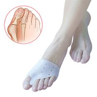 Wholesale 1pair Hallux valgus Orthotics Silicone Toes Separator The big Toe Bunion Corrector Daily Use Foot Care Tool Orthopedic pad