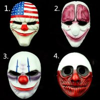 halloween masks clown - 2016 Halloween New PVC Scary Clown Mask Payday Halloween Mask For Antifaz Party Mascara Carnaval