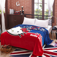 air conditioning uk - UK Style Cartoon Air conditioning Spring Blanket Gift Throws on Bed Sofa Plane Travel Fleece Flannel Blankets Girls Bed Supplies