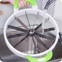 Wholesale New Kitchen accessories Kitchen cooking Tools Stainless Steel Watermelon Cantaloupe Slicer Fruit Cutter Tool Fruit Vegetable Tools