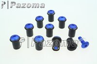 Wholesale PAZOMA Aluminum Pce Motorcycle Windscreen Bolts Kit Windshield Blue Screw Mounting Nuts For Yamaha YZF R1 R6