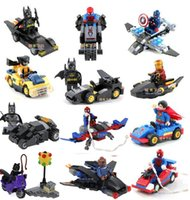 avengers gift set - The Avengers Figures Vehicle Marvel Super Heroes Batmobile High Quality Building Bricks Block Set Figures Minifigures Toys Gifts