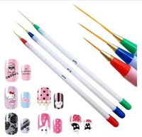 Wholesale Nail Art Pen Set Acrylic French Nail Art Pen Brush Painting Drawing Liner Manicure Tools Nailpolish Pensnailbrush Nailart Decoration