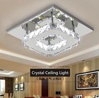 al por mayor montaje en el techo accesorios de iluminación-Moderna de cristal del techo de luz LED de 12W Fixture Plaza Montado en Superficie de cristal de la lámpara de la luz de techo Pasillo Pasillo Asile luz Lámparas