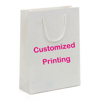 Wholesale White Paper Shopping Handbag With Personalized Printing Paper Gift Bag For Promotion And Trade Show Available For Customized Printing