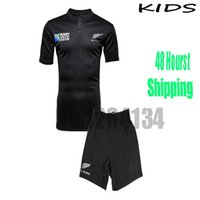 jerseys for kids - 2015 New Zealand Ruby Jersey for kids Children Home Black Shirts All top thailand quality Rugby Jerseys