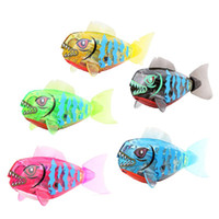 Wholesale 1Pcs Activated Battery Powered Robo Fish Toy Childen Kids Bath Tub Robotic Pet Toy K5BO