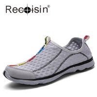 animal walking on water - RECOISIN New Summer Women amp Men Shoes Men Slip On Breathable Mesh Beach Water Walking Shoes Plus Size Fashion Mens Casual Shoes
