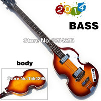 bb photos - New Arrival Electric Bass BB Violin Bass Spruce Top Flame maple Side Back Beatles Bass BB2 Style Real photo showing